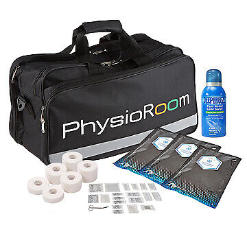 Lightweight PhysioRoom Sports Medical First Aid Kit Bag for Field Use (Filled)