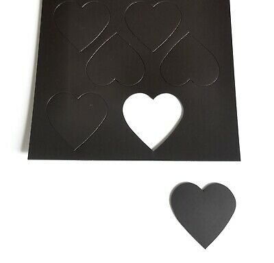 Self Adhesive Stick On Heart Shape Magnetic Rubber Fridge Round Magnet Card Make