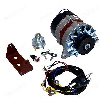 DYNAMO TO ALTERNATOR CONVERSION KIT FITS MASSEY FERGUSON 35 (3 cyl) TRACTORS.