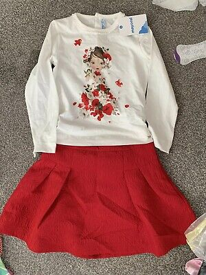 Red Mayoral Skirt And Top Set Age 6 Years BNWT