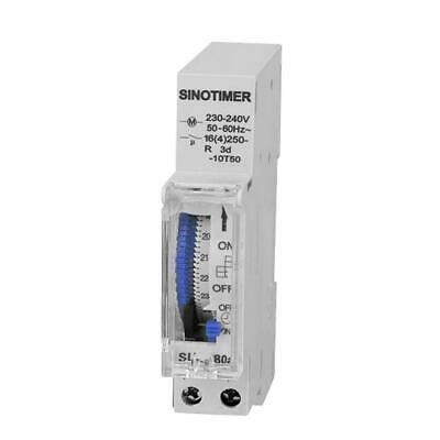 SUL180 DIN Rail Time Switch 24 Hours Programmable Mechanical Timer Switch F07#