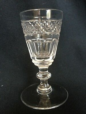 Antique Victorian Crystal 1 x Glass Sherry or Port Liquor Stemware 19th Century