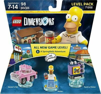 New Lego Dimensions Level Pack Homer Simpson & Car 71202 - Free Shipping -