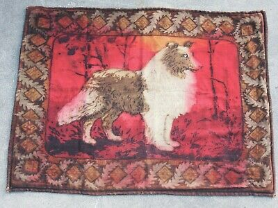 Victorian  Chase Lap Robe With Collie Dog