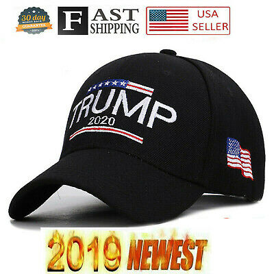 Trump 2020 MAGA Hat Embroidered Hat Keep Make America Great Again Cap Black RR