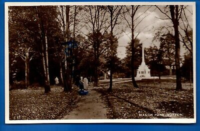 Rp Postcard Manor Park Sutton London Nr Carshalton Mitcham Croydon Cheam Epsom