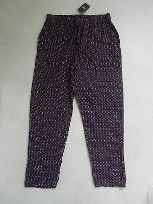 BNWT Next Ladies Lightweight Patterned Baggy Harem Style Tapered Trousers S 12