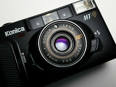 ~ IMMACULATE + BOXED ~ Konica MT-9 Compact 35mm AF Point & Shoot Film Camera