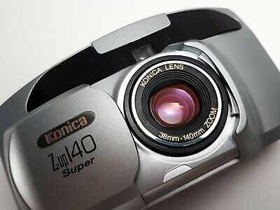 + BOXED + TESTED + Konica Z-up 140 Super Compact 35mm Point & Shoot Film Camera