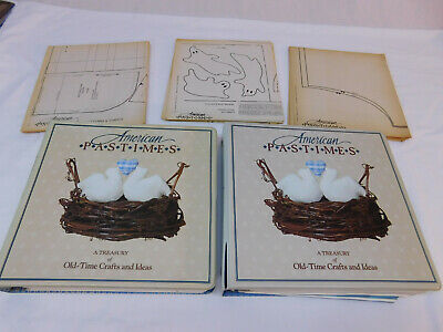 Set of 2 American Pastimes Treasury Old Time Crafts & Ideas -Binders & Patterns