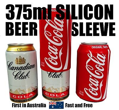Australian 375ml Hide A Beer Silicone Beer Can Sleeve Cover Reuseable Coca Cola