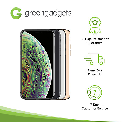 Apple iPhone XS - 64GB 256GB 512GB Grey Silver Gold Unlocked Device