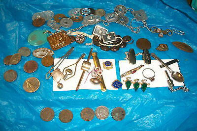 Junk Drawer Lot, Indian head coins, tokens, jewelry, GF item,