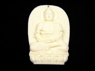 Quality Highly Detailed Hand Carved Pendant Seated Kwan-Yin Buddha #09011908