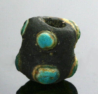 Ancient glass beads: Medieval, Islamic/Byzantine complete Horned eye bead