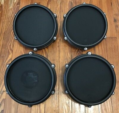 """Set of 4 Alesis Mesh Drum Pads (3 Toms & 1 Snare) NEW 8"""" Nitro Electronic Kit"""