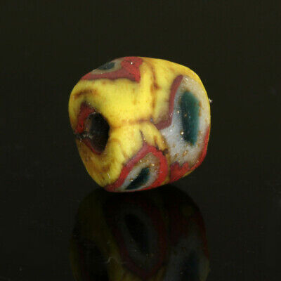 Ancient glass beads: Medieval Byzantine / Islamic/ Viking mosaic glass bead