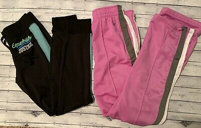 Justice Girls Athletic Pants Joggers Size 14
