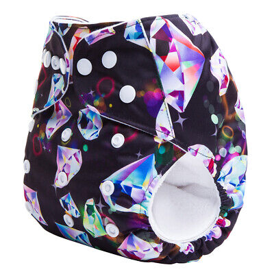 Modern Cloth Reusable Washable Baby Nappy & Insert Dazzling Diamonds