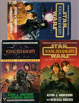 Star Wars Young Jedi Knights by Kevin J. Anderson & Rebecca Moesta 3 book lot