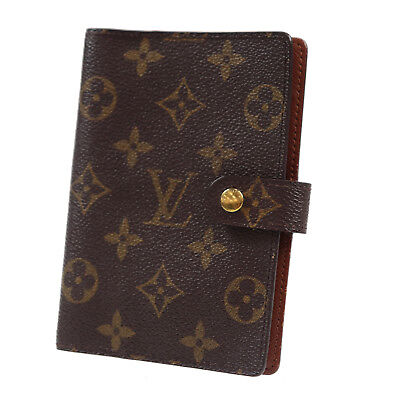 LOUIS VUITTON Agenda PM Day Planner Cover Monogram R20005 Vintage Auth #Z380 W