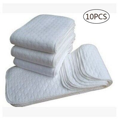 10 pcs modern nappy inserts liners reusable washable Cloth Nappies diapers baby