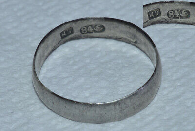ANTIQUE Russian Imperial 19 century ! Men Ring wedding SILVER 84 Orthodox Icon
