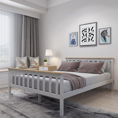 New 3ft Single Wooden Shaker Style Distressed Wax Bed Wood Frame Adults /& Kids