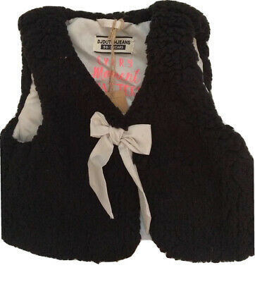 Girls Black Fluffy Gillet Aged 3 Years BNWT RRP £25