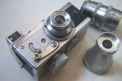 A STEKY JAPANESE MINI SPY CAMERA MODEL III B WITH 40mm TELE LENS c.MID 1950'S