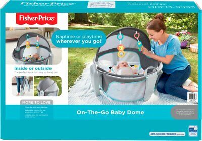 Fisher-Price On-the-Go Baby Dome - Gray & White Indoor/Outdoor NEW