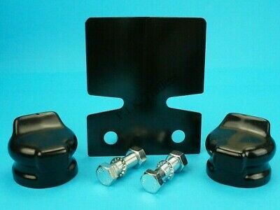 Black Bumper Protector & BOLTS & Socket Covers Towbar Towball Trailer Caravan