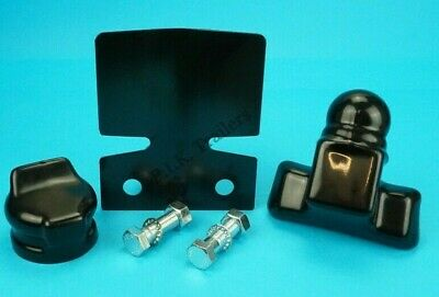 Black Bumper Protector & BOLTS with Full Towball & Socket Cover Towbar - Trailer