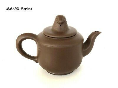 Teapot Yixing Zisha Mark Chinese Handmade Clay China Carved Antique Plum Eagle