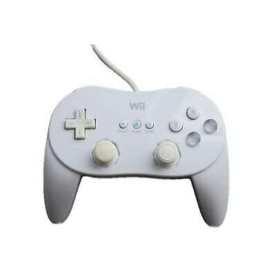 Official Original Nintendo Wii Pro Classic White Wired Controller