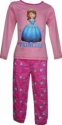 Girls Disney Sofia The First Long Sleeve Pyjamas Pink-3 Years / 98 cm