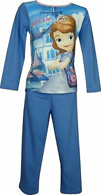 Girls Disney Sofia The First Long Sleeve Pyjamas Blue-6 Years / 116 cm