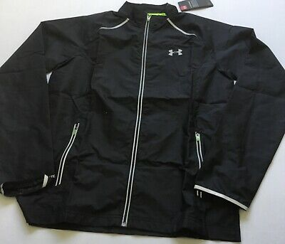 Under Armour MEN'S Storm Launch Run Lightweight Rain Jacket 1253577 Black Size M