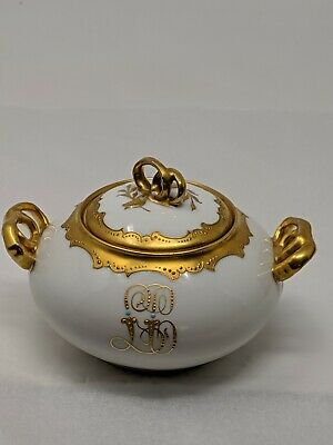 Antique Vintage Pickard France Hand Painted Sugar Bowl with Lid BEAUTIFUL!