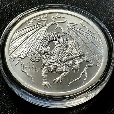 Norse World of Dragons 999 Silver 1 oz Fine Art Medal Round Medallion MA987