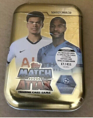 Topps Match Attax 2019/20 Mini Tin Inc Limited Edition 19/20 Season