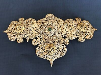 Antique Ethnic Silver Filigree Women Belt Buckle jewelry Austria Hungary Empire