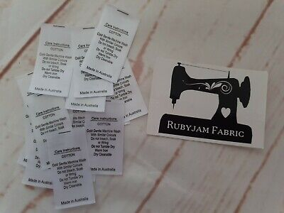 100 pack white 100% Cotton satin care labels sew in FREE POSTAGE in AU