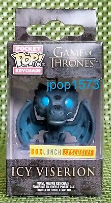 Funko Pocket Pop Keychain Game of Thrones Icy Viserion - Box Lunch Exclusive!