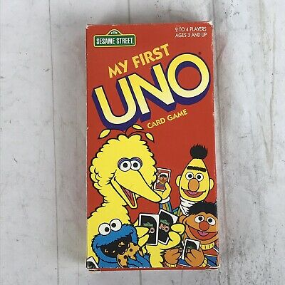 UNO Sesame Street My First UNO Card Game  with Board & Playing Pieces Complete