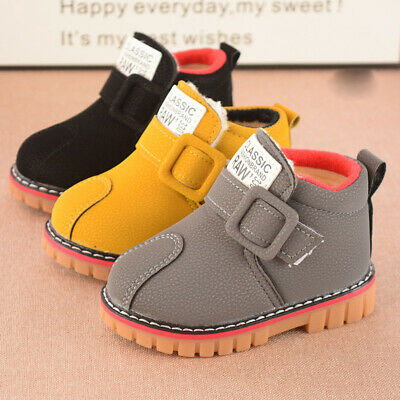 Winter Children kids Martin Snow Boots Baby Toddler Boys Girls Casual Warm Shoes