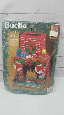 New Bucilla Festive Fireplace Doorstop Kit 61193 Needlecraft