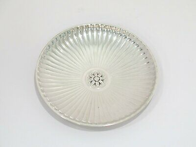 3.5 in - Sterling Silver Tiffany & Co. Antique Grooved Flower Center Small Plate