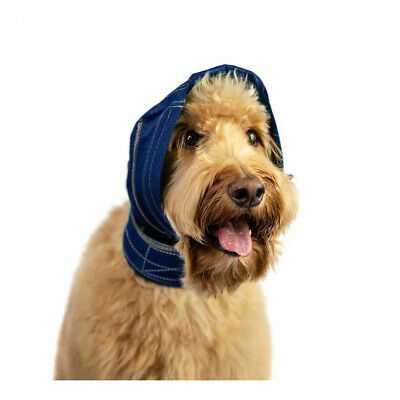 No Flap Ear Wrap, Denim Coloured, Dog Ear Protection, KVP, Pet Wound Recovery