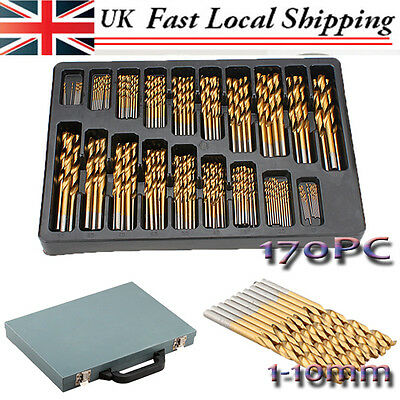 99PC Spiral Point Tap Straight Shank Steel HSS Drill Bit Set for Alloy Welds V4A